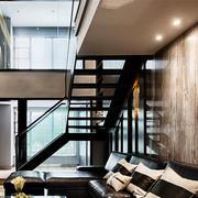 新中式风格精致实木楼梯设计装修效果图