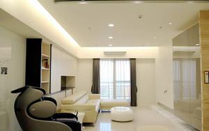 99平米现代风格精装三室两厅室内装修效果图案例