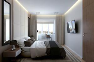 20平米现代风格精致卧室装修效果图赏析