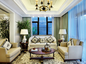 160平米新古典主义风格精致大户型室内装修效果图