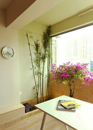 80平米新中式风格淡雅清新室内装修效果图
