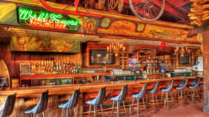 60平米复古风格精致酒吧吧台装修效果图