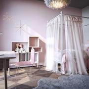 北欧风格甜美粉色儿童房装修效果图赏析