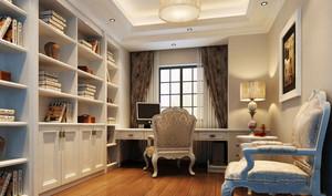简欧风格精致书房设计装修效果图赏析