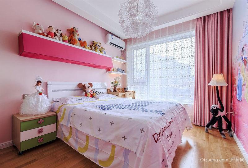 简约风格温馨粉色儿童房装修效果图