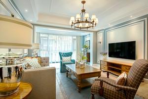 简约美式风格精美时尚大户型室内装修效果图案例
