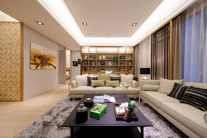135平米简约中式风格大户型室内装修效果图