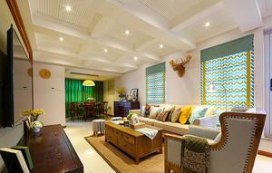 180平米美式风格精致复式楼室内装修效果图赏析