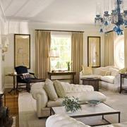 欧式风格别墅室内客厅设计装修效果图鉴赏