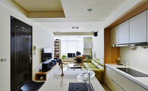 78平米清新风格简约两室一厅一卫装修效果图