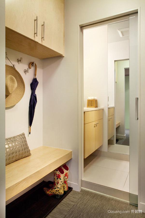 日式风格小户型简约玄关鞋柜装修效果图