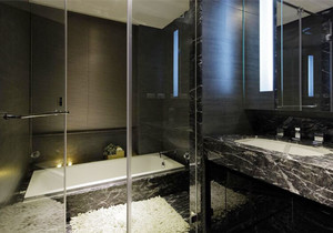 现代风格大户型精致卫生间隔断设计装修效果图