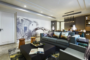 152平米新中式风格大户型室内装修效果图案例