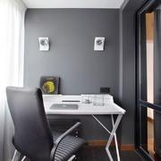现代简约风格时尚阳台书房装修效果图