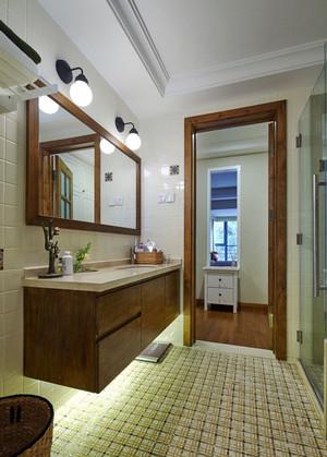 宜家风格简约卫生间浴室柜设计装修效果图