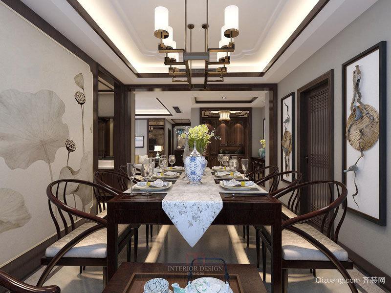 中式风格古典精致餐厅装修效果图鉴赏