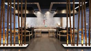 中式风格朴素中餐厅装修效果图