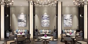 中式风格精致酒店餐厅装修效果图