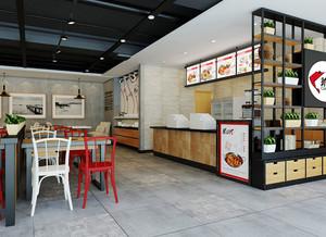 65平米现代风格时尚快餐店装修效果图