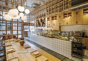 40平米后现代风格面包店设计装修效果图赏析