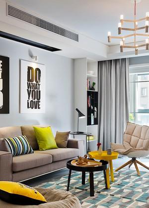 北欧风格时尚个性温馨两室两厅室内装修效果图