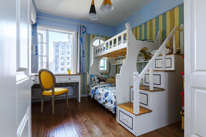 地中海风格清新儿童房设计装修效果图赏析