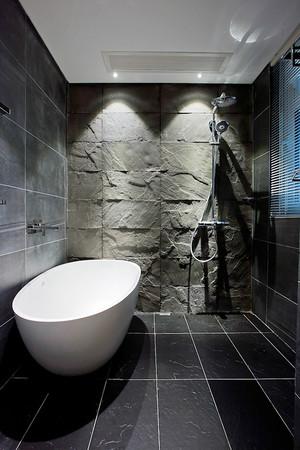 80平米后现代风格黑色系室内装修效果图案例