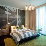 后现代风格精致卧室背景墙装修效果图欣赏