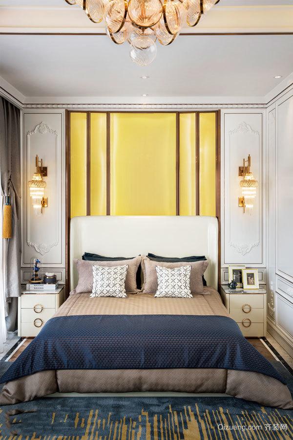 新古典主义风格精美卧室背景墙装修效果图
