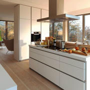 简约风格大户型精致开放式厨房装修效果图