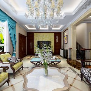260平米美式风格别墅室内装修效果图