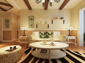 90平米欧式田园风格精美室内装修效果图