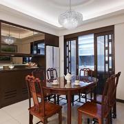 中式风格精致古典实木餐厅装修效果图