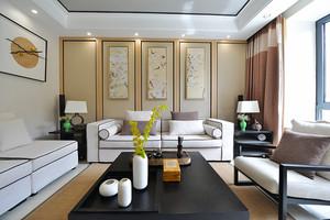 90平米中式风格精致室内装修效果图赏析