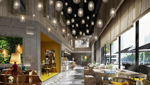 现代风格时尚创意餐厅装修效果图赏析