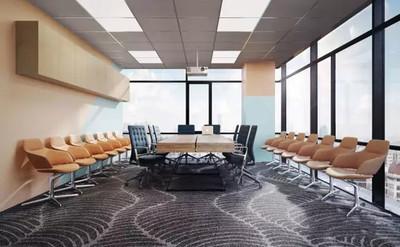 现代风格精致多功能会议室装修效果图