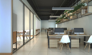 65平米现代简约风格小型办公室装修效果图
