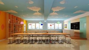 现代简约风格可爱温馨幼儿园教室效果图