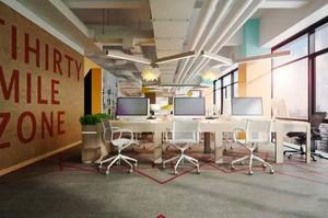 现代简约风格小型办公室装修效果图