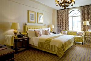 欧式风格精致酒店客房装修效果图