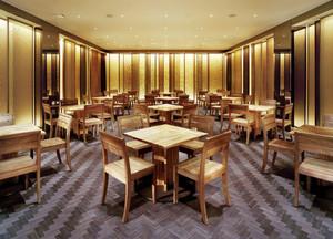 中式风格古朴简约中餐厅装修效果图