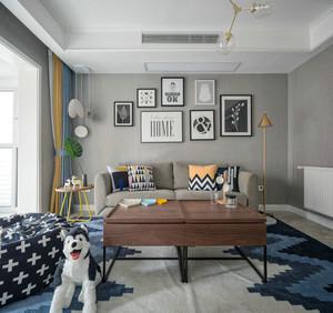 81平米北欧风格简约时尚两室两厅室内装修效果图