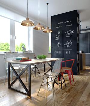 55平米现代风格黑色系单身公寓装修效果图