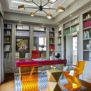 后现代风格时尚创意书房吊顶设计装修效果图
