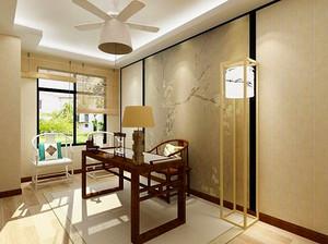 108平米简约中式风格三室两厅室内装修效果图