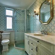 美式风格清新卫生间淋浴房设计装修效果图赏析