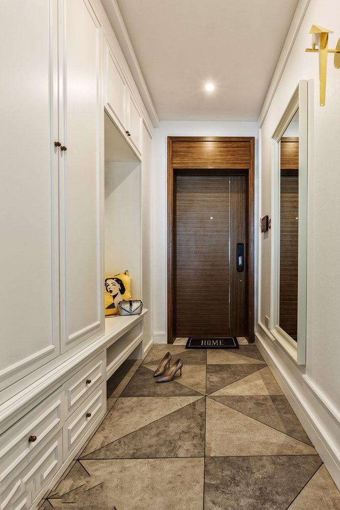 美式风格时尚大户型玄关鞋柜设计装修效果图