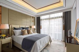 18平米现代风格精致卧室背景墙装修效果图
