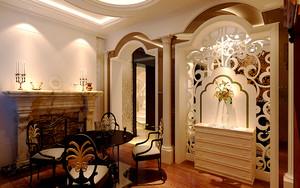370平米新古典主义风格精致别墅室内装修效果图