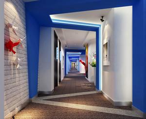现代简约风格宾馆过道设计装修效果图